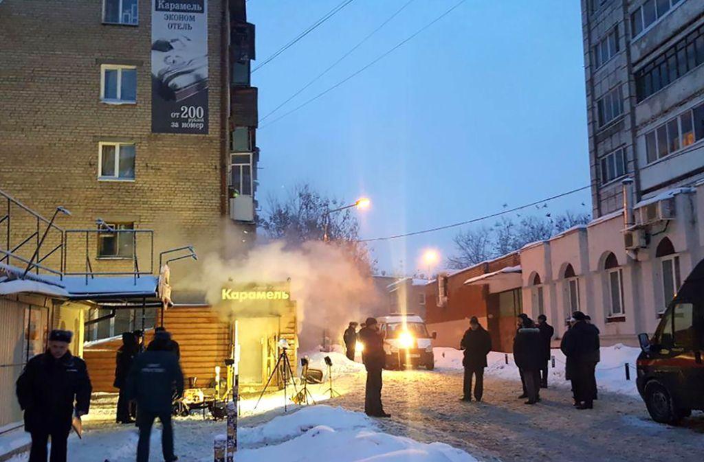 In einer Herberge in Perm sind fünf Menschen wegen einer gebrochenen Heißwasserleitung gestorben. Foto: dpa/Karina Buryan