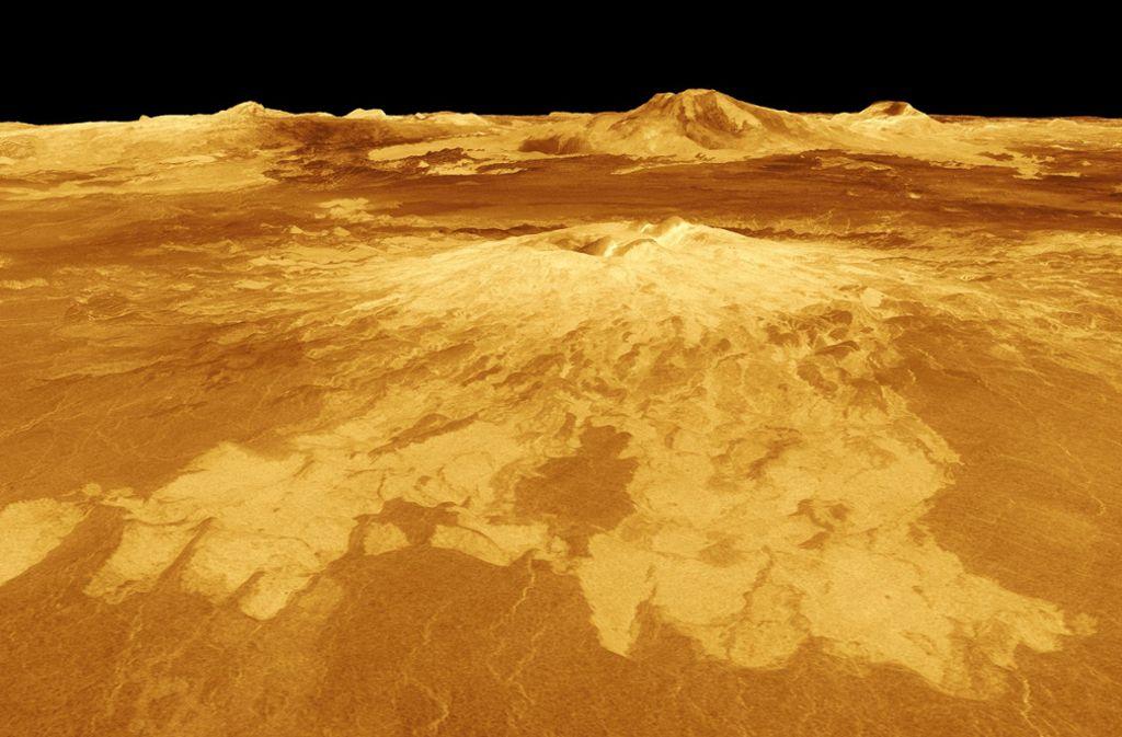 So sieht die Oberfläche der Venus auf einem Satellitenbild der Nasa aus. Foto: NASA