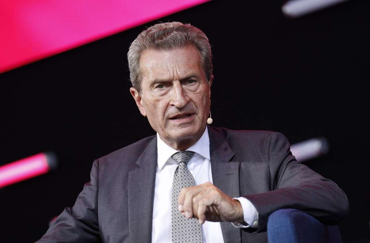 Ex-Ministerpräsident Günther Oettinger Foto: imago images/Christoph Hardt