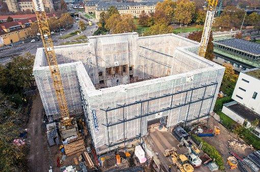 Blick von oben ins neue Stadtmuseum