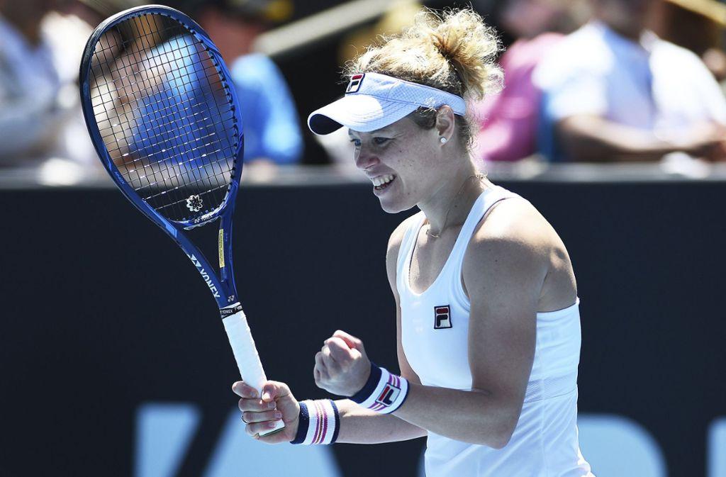 Die Metzingerin Laura Siegemund triumphiert beim WTA-Turnier in Auckland. Foto: AP/Chris Symes