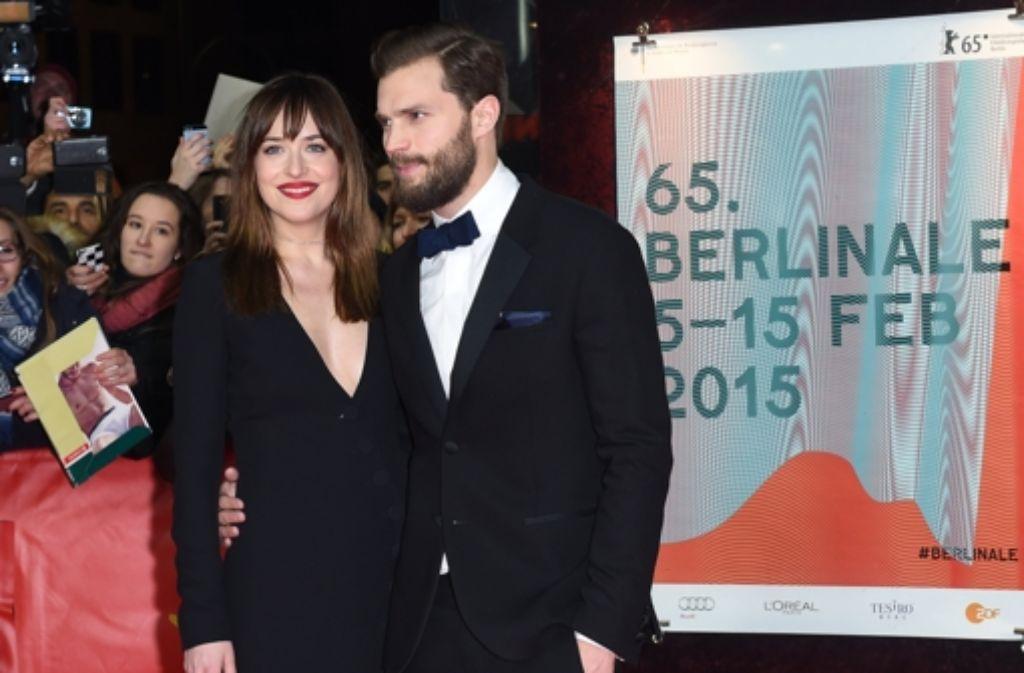 """Auch im neuen """"Fifty Shades of Grey"""" spielen sie die Hauptrollen: Jamie Dornan und Dakota Johnson Foto: dpa"""