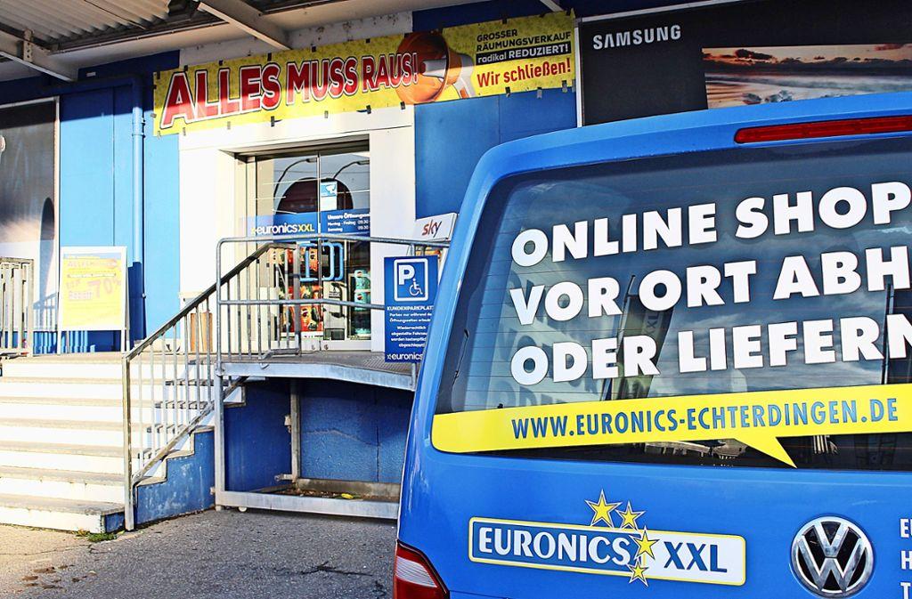 Euronics in Echterdingen schließt. Die Konkurrenz durch andere Elektrofachmärkte und das Internet ist groß, heißt es aus dem Unternehmen. Foto: Caroline Holowiecki