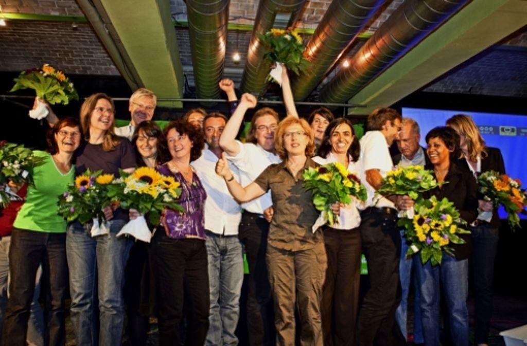 Die Kommunalwahl 2009 ließ die Grünen in Stuttgart jubeln. Zum nächsten Urnengang im Mai treten einige neue Gesichter an. Foto: Honzera