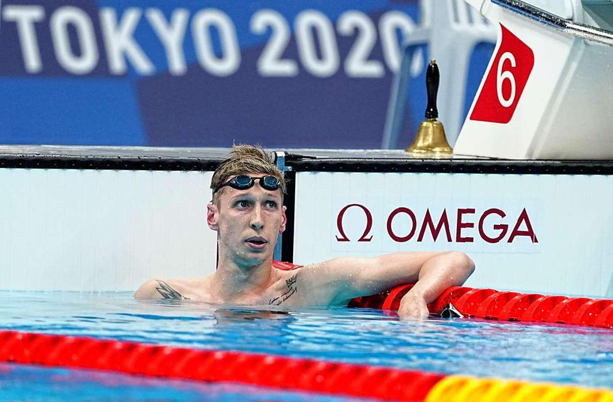 Doppel-Weltmeister Florian Wellbrock hat eine Medaille knapp verpasst. Foto: dpa/Michael Kappeler