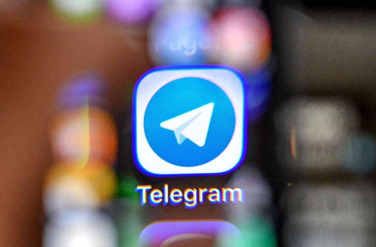 """Laut Behördenangaben wird """"Telegram"""" beim Handel mit illegalen Waren und Dienstleitungen als Alternative zu Handelsplattformen im Darknet verwendet. (Symbolfoto) Foto: AFP/YURI KADOBNOV"""
