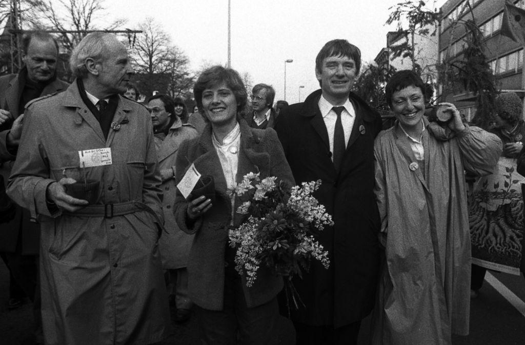 Dieses Bild entstand beim Parteitag der baden-württembergischen Grünen.  Aber auch im Bund will die Partei wieder Regierungsverantwortung  übernehmen. - Stuttgarter Zeitung