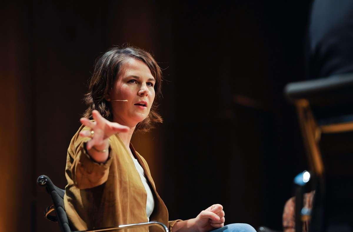 Annalena Baerbock, die Kanzlerkandidatin der Grünen, gastierte am Dienstag in Stuttgart. Foto: Lichtgut/Max Kovalenko