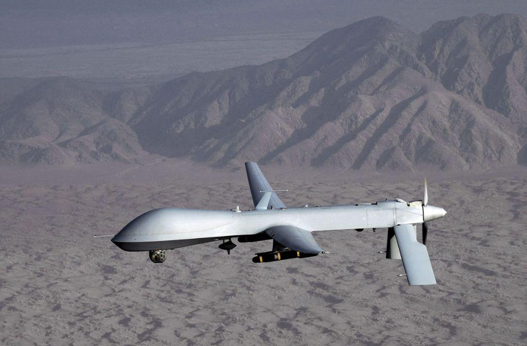 Eine US-Drohne. Theoretisch wäre der Einsatz künstlicher Intelligenz zur Steuerung hier möglich. (Symbolbild) Foto: US AIR FORCE