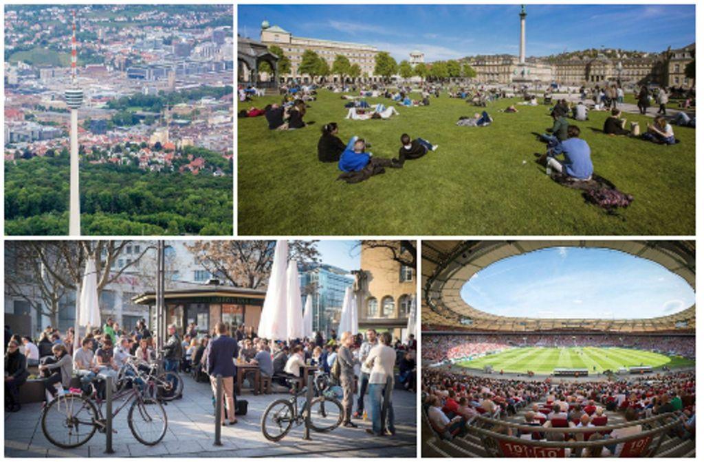 Fernsehturm, Schlossplatz, Palast der Republik oder Mercedes-Benz-Arena – in Stuttgart ist der Frühling einfach am schönsten. Foto: dpa/ Lichtgut