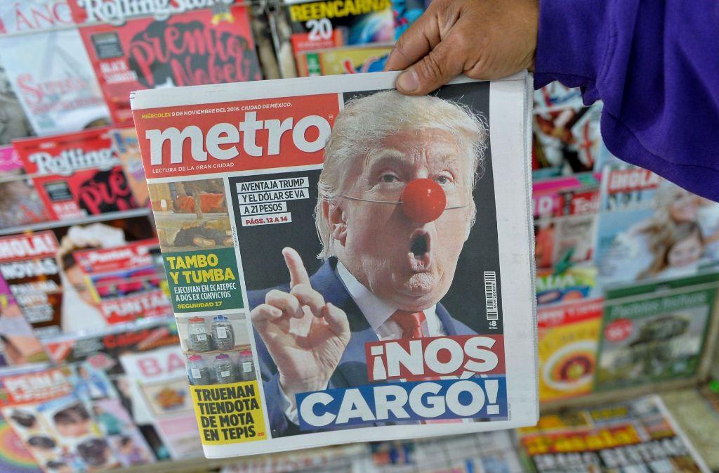 """Keine Freude über Trumps Sieg. Die Latinos haben vor allem Clinton gewählt, da Trump die Mexikaner als """"Drogendealer"""" beschimpft hat. Doch die Demokratin hat auch in dieser Gruppe nicht so viele Stimmen bekommen wie erhofft. Foto: AFP"""