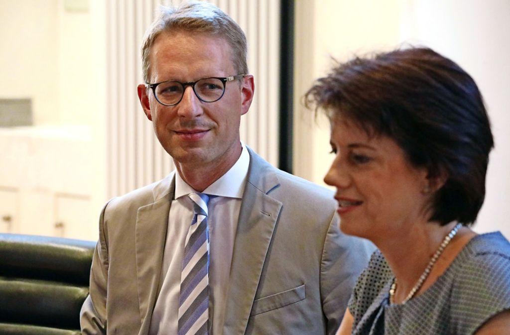 Neues Duo: Johannes Berner und Oberbürgermeisterin Gabriele Zull. Foto: Patricia Sigerist