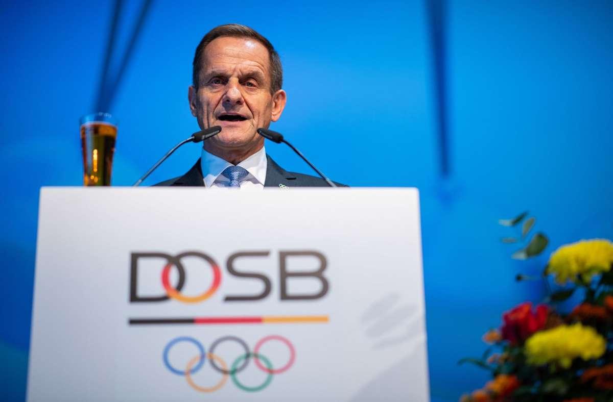 Alfons Hörmann, Präsident des Deutschen Olympischen Sportbund, sieht in dem Hilfspaket eine Unterstützung, um die Vereinslandschaft in Deutschland zu erhalten. Foto: dpa/Guido Kirchner