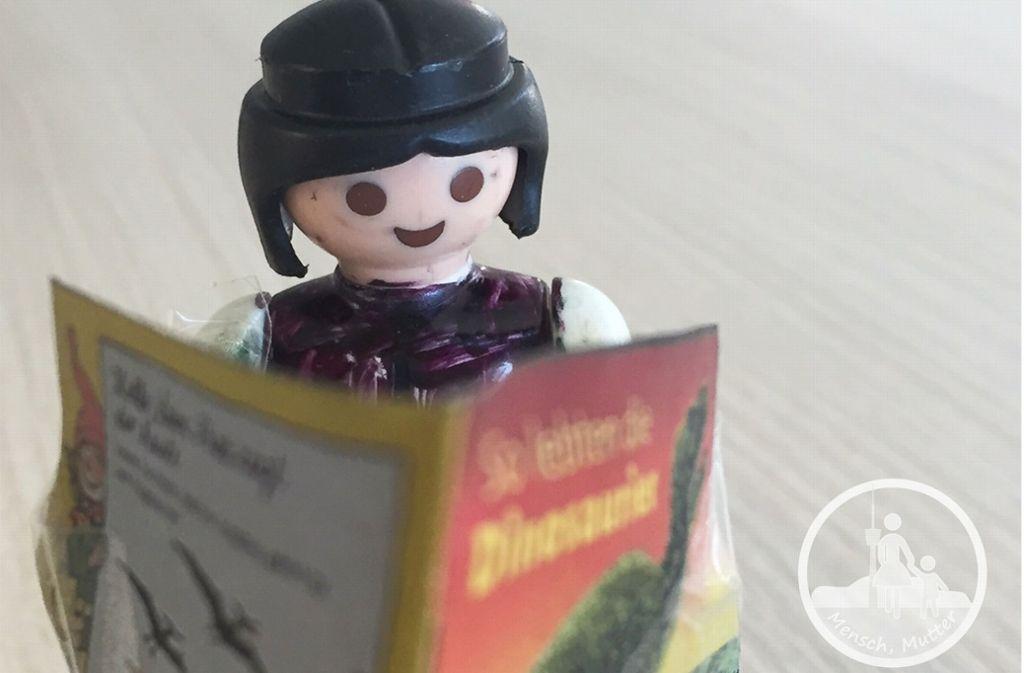 Mit jedem Pixi-Buch und Kinderlexikon steigt auch der Wissensschatz unserer Autorin. Foto: Welzhofer