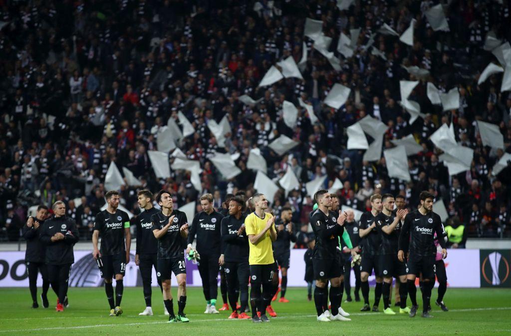 Applaus, Applaus: Frankfurt feiert sich und seine Fans Foto: etty Images