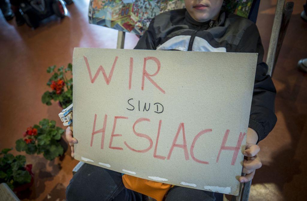 Auch vor der Sitzung des Gemeinderats gab es bereits Proteste gegen den Leerstand und für die Hausbesetzung in Heslach. Foto: Lichtgut/Leif Piechowski