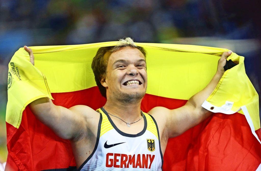 Ganz großer Sport: Niko Kappel feiert seinen Sieg in Rio Foto: Baumann