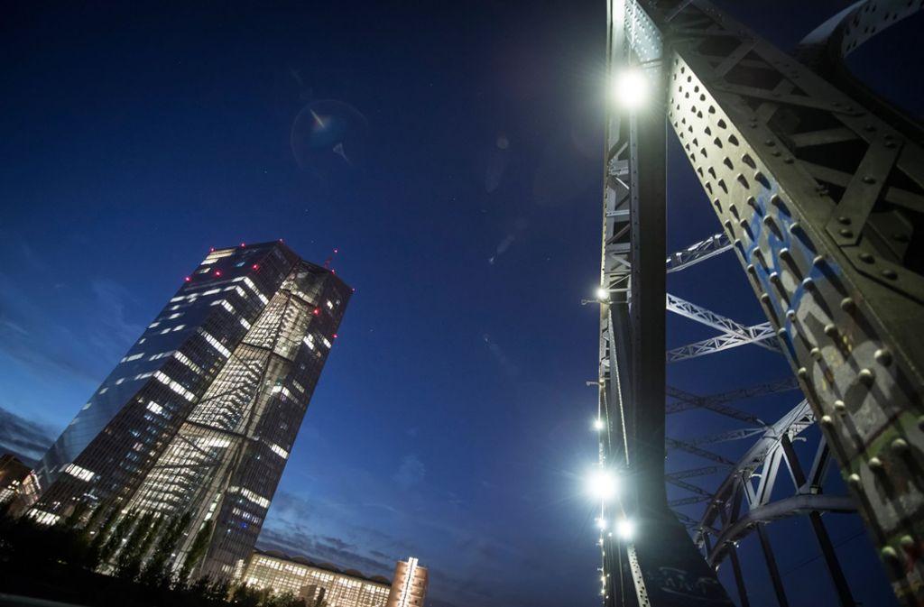 Imposant: das EZB-Gebäude in Frankfurt Foto: dpa