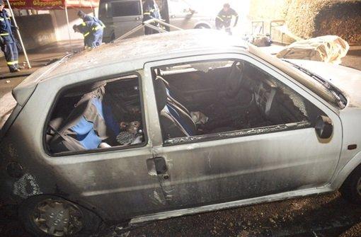 Eine Tote bei Autobrand
