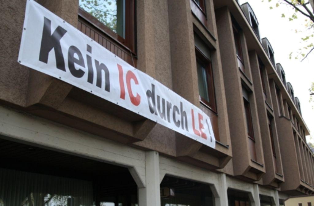 Ihren Protest gegen die bisherigen S21-Pläne auf den Fildern haben Bürger in Leinfelden-Echterdingen schon kund getan. Foto: Höhn