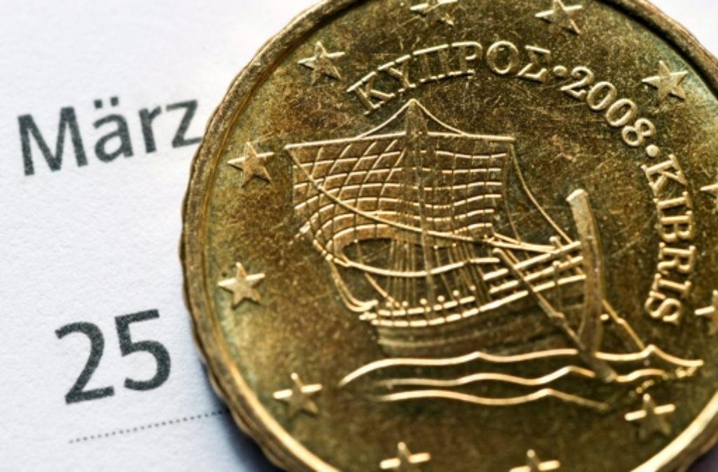 """Gibt es noch eine """"Plan C"""", der Zypern retten kann? Foto: dpa"""