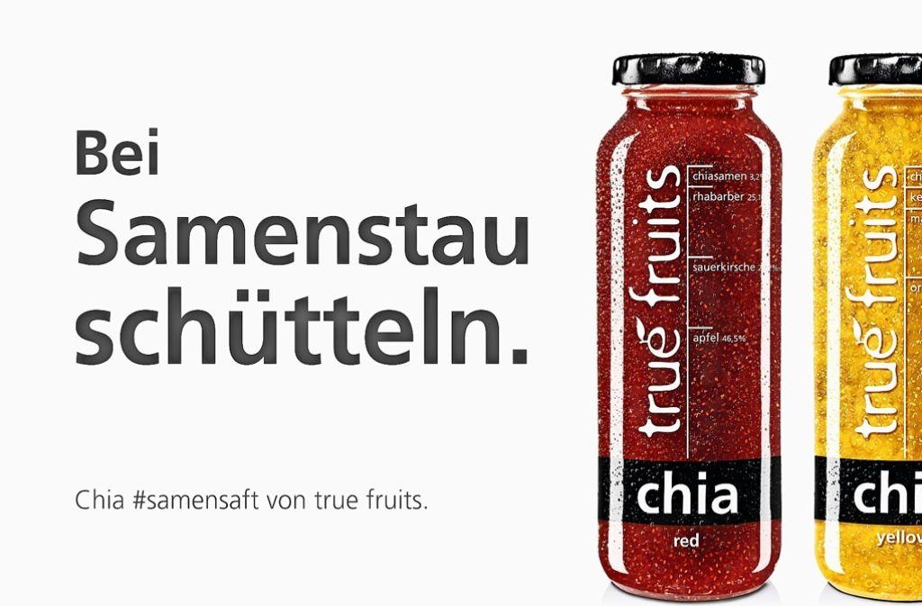 Der Slogan von True Fruits darf in Stuttgart nicht plakatiert werden Foto: True Fruits