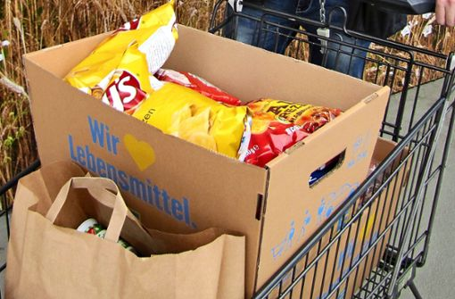 Der Einkaufswagen wird per Mausklick befüllt