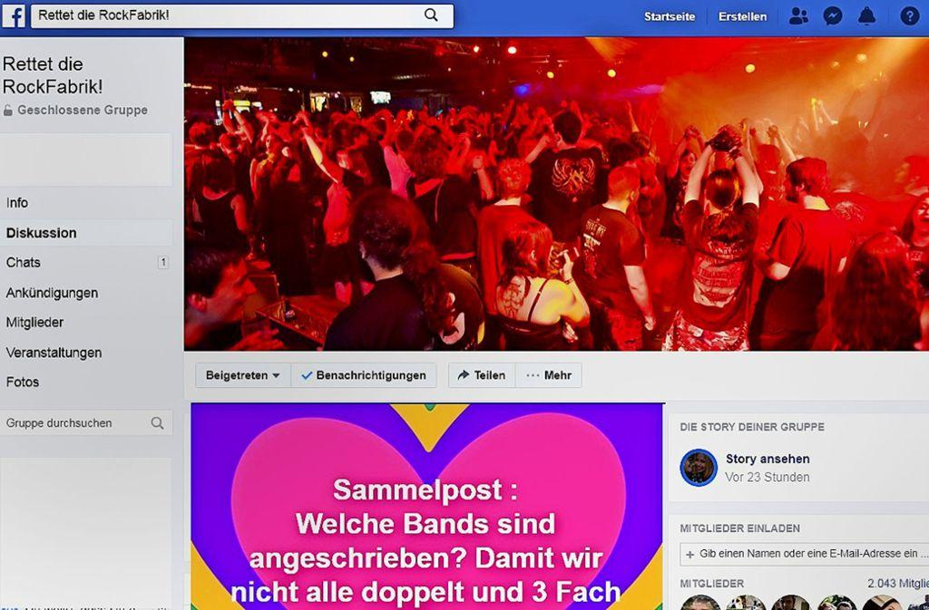 In Facebook-Gruppen organisieren sich die Anhänger der Rockfabrik, bis zu 5000 Mitglieder wurden binnen weniger Tage mobilisiert. Foto: StZ
