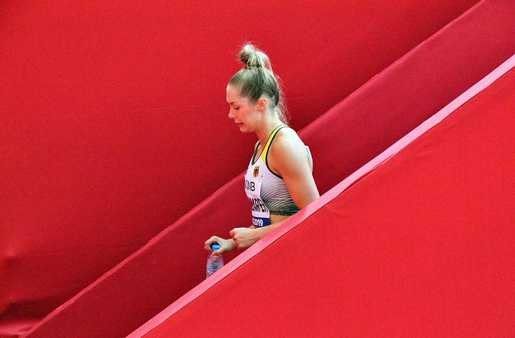Für Gina Lückenkemper kann es in der Sprintstaffel nur aufwärts gehen. Foto: dpa/Martin Meissner