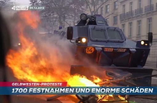 Paris nach Ausschreitungen im Ausnahmezustand