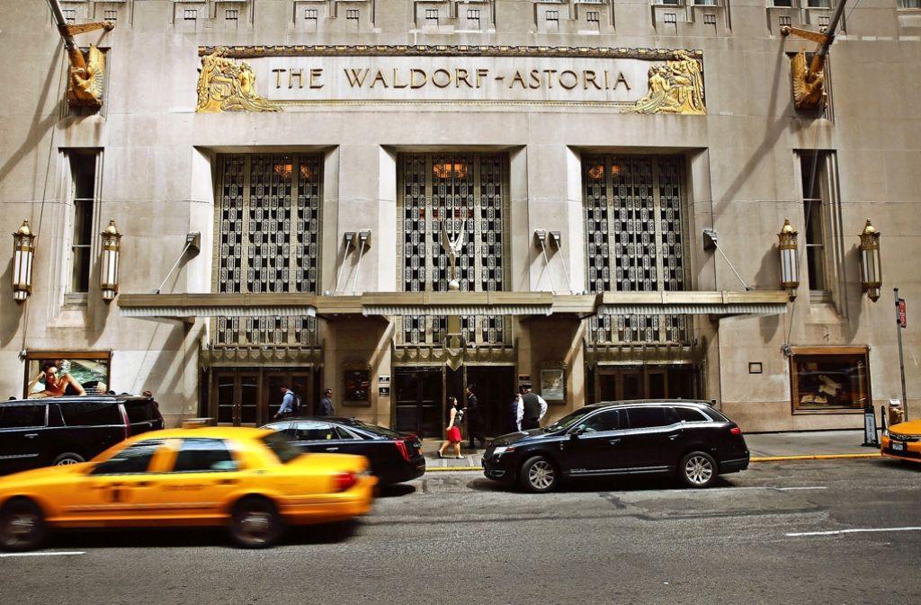 Das Waldorf  Astoria in Manhattan ist eines der berühmtesten Hotels der Welt. Foto: Getty