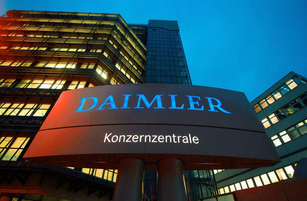 Rund 17000 Mitarbeiter zählen  zur Konzernzentrale von  Daimler. Foto: dpa
