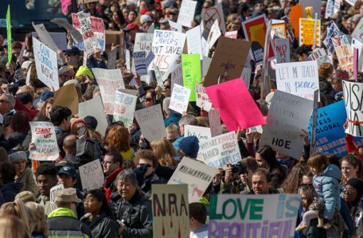 Massenprotest gegen Waffengewalt in den USA