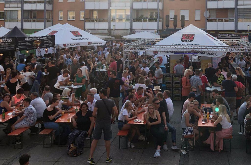 In Wendlingen sind die Menschen in Massen zum Street-Food-Festival gepilgert. Foto: privat