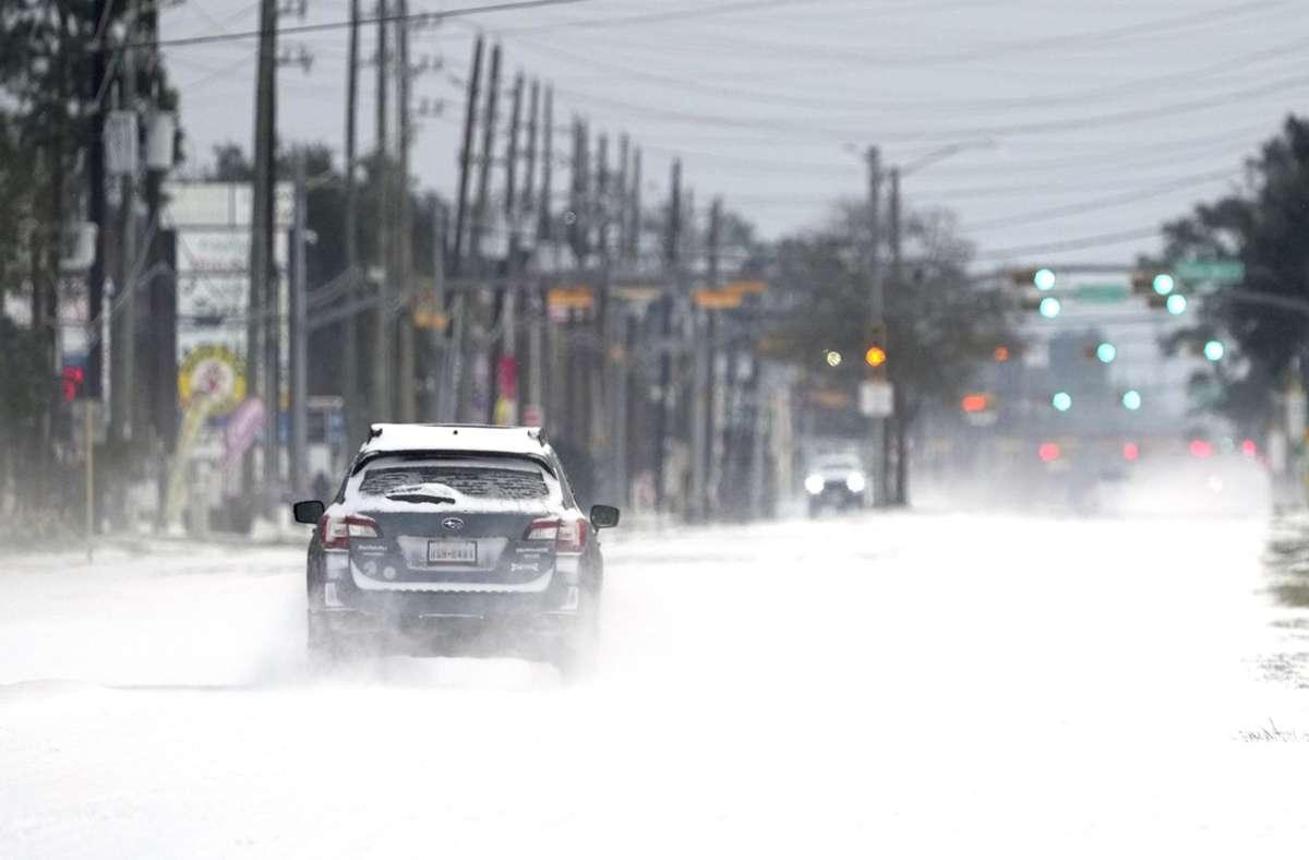 In Texas haben extreme Kälte und viel Schnee für Probleme gesorgt. Foto: dpa/David J. Phillip