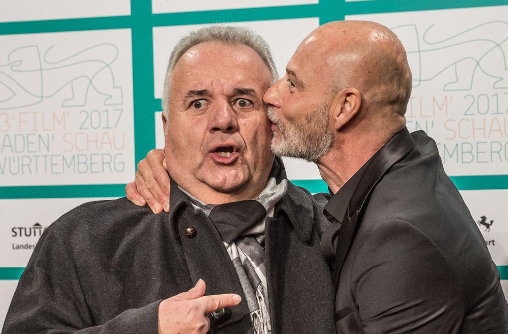 """Winfried Wagner (links) und Simon Licht spielen die Hauptrollen in """"Laible und Frisch"""". Foto: Lichtgut/Julian Rettig"""