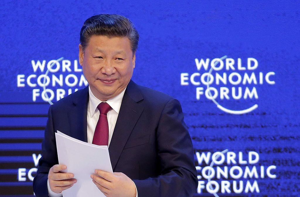 Chinas Präsident Xi Jinping plädiert in Davos für offene Weltmärkte. Foto:
