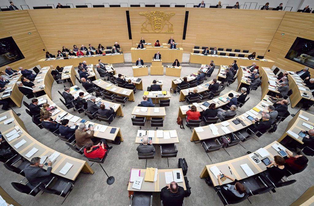 Der Landtag entscheidet über neue Gesetze und Gesetzesänderungen. Foto: dpa