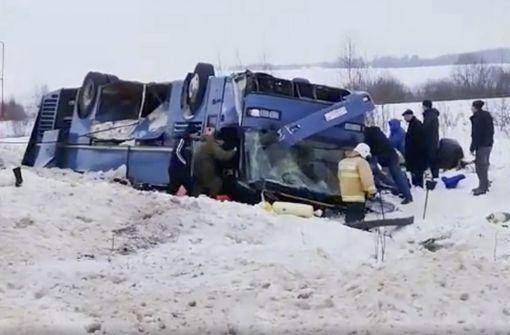 Bus mit Kindern südlich von Moskau verunglückt