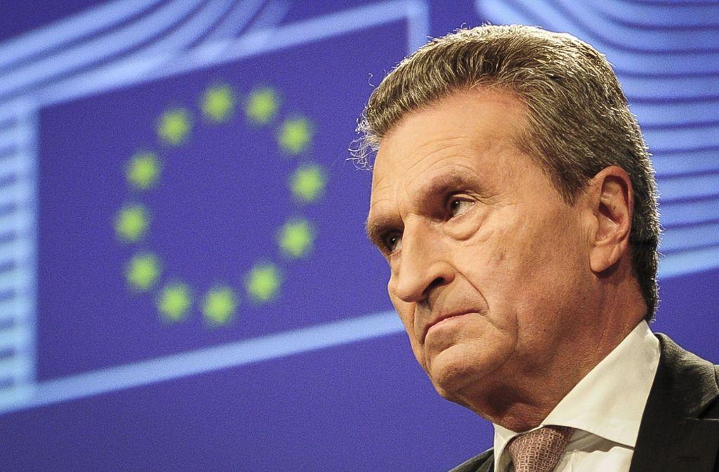 EU-Kommissar Günther Oettinger hat die erneuten Zerwürfnisse innerhalb der Großen Koalition kritisiert. Foto: dpa