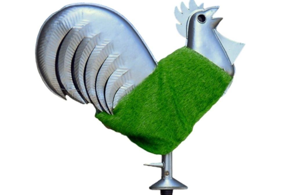 Der grüne Gockel ist das Symbol des Landeskirche für nachhaltiges Handeln. Foto: privat