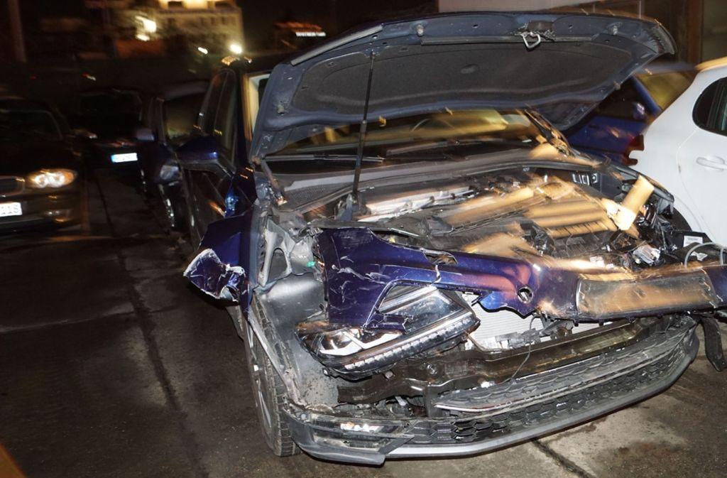 Am Fahrzeug des 78-jährigen Unfallverursachers entstand ein Totalschaden. Foto: SDMG