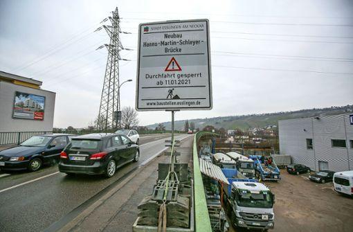 Schleyer-Brücke wird bald gesperrt