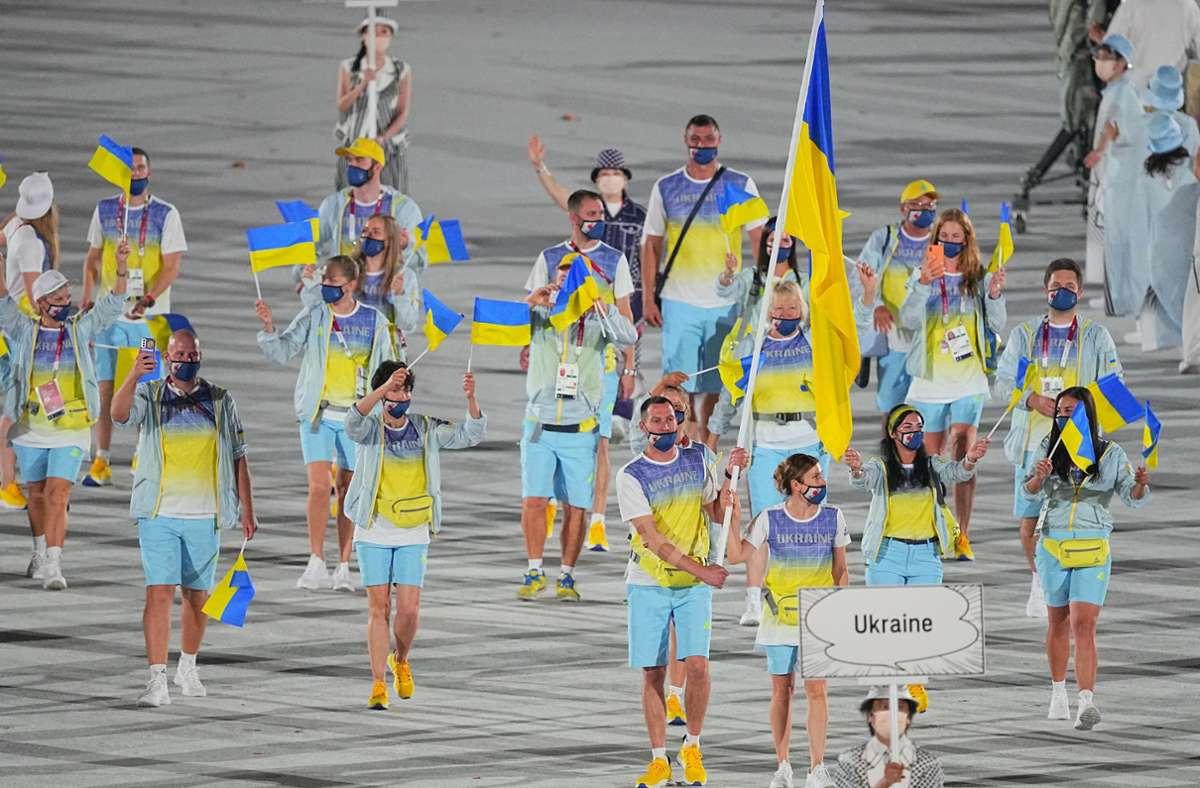 Der Sender hatte unter anderem eine Grafik zur Atomkatastrophe von Tschernobyl eingeblendet, um die Olympia-Mannschaft der Ukraine einzuführen. Foto: dpa/Michael Kappeler