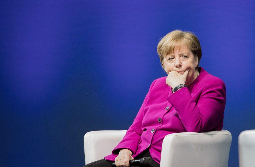 Bundeskanzlerin Angela Merkel kritisiert auf dem Katholikentag in Münster US-Präsident Donald Trump. Foto: dpa
