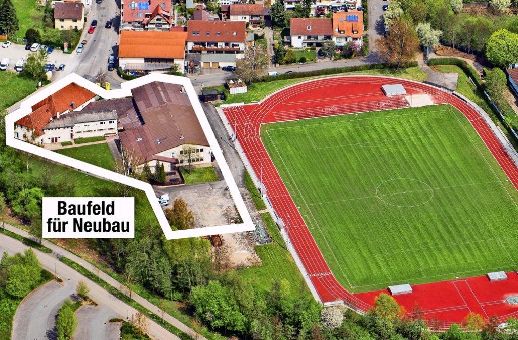 Auf dem Gelände des TSV Eltingen an der Bruckenbachstraße soll das neue Sportvereinszentrum entstehen. Foto: Holger Leicht