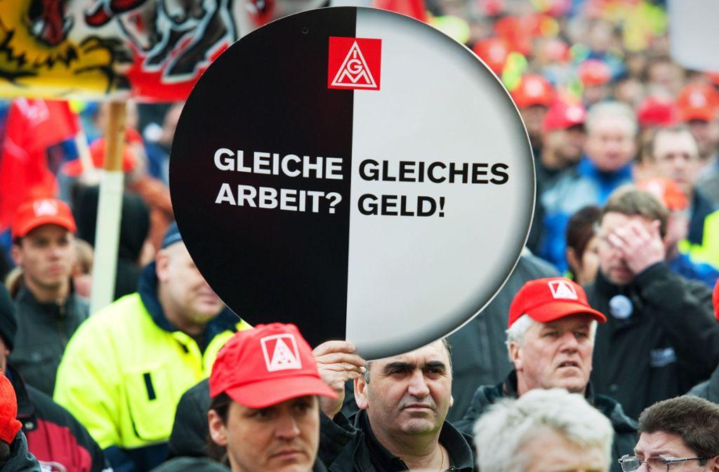Die Gleichstellung der Zeitarbeiter gelingt nur selten. Foto: picture alliance / dpa/Uwe Anspach
