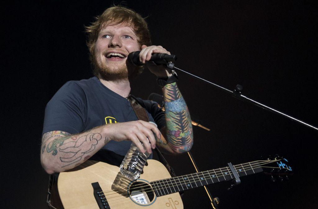 Ed Sheeran bei seinem Konzert in Zürich. Am Montag startet der britische Sänger seine Deutschlandtour in München. Foto: dpa