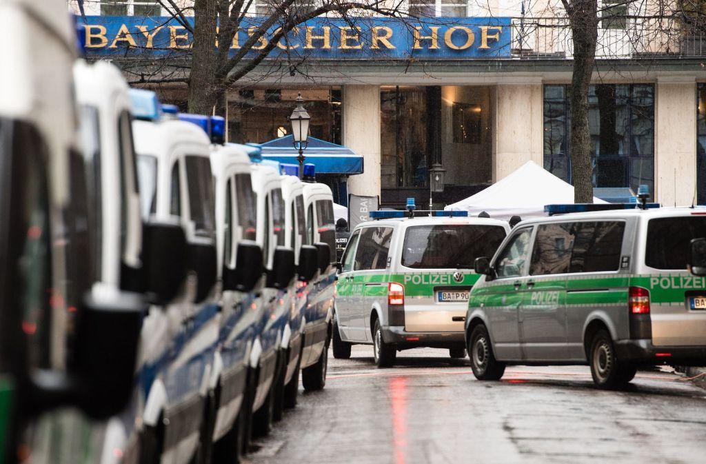 Die Münchner Sicherheitskonferenz erfordert jährlich ein hohes Polizeiaufgebot. Foto: dpa