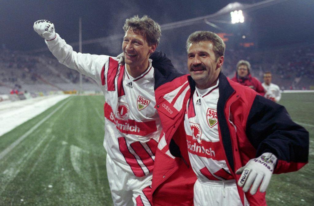 Zwei Glücksgriffe in der Transferhistorie des VfB Stuttgart: Guido Buchwald (li.) und Fritz Walter Foto: Baumann